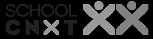 School CNXT logo_b&w